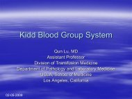 Kidd Blood Group System - the UCLA Department of Pathology ...
