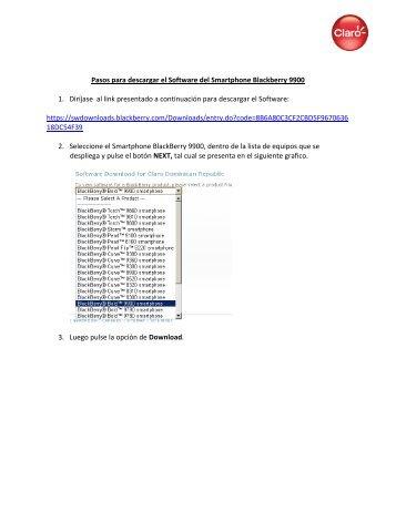 Pasos para descargar el Software del Smartphone Blackberry 9900 ...