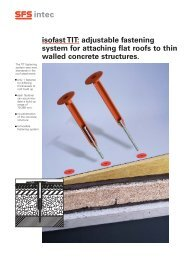 isofast TIT: adjustable fastening system for attaching flat roofs to thin ...