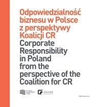 Odpowiedzialność biznesu w Polsce z perspektywy Koalicji CR ...