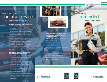 Service Reminders - Mazda