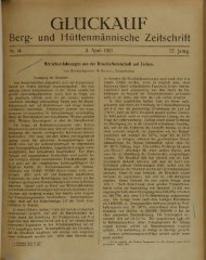 G L Ü C K A U F Berg- und Hüttenmännische Zeitschrift