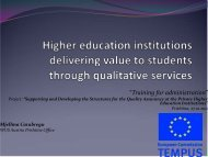 Higher education institutions delivering value to ... - WUS Austria