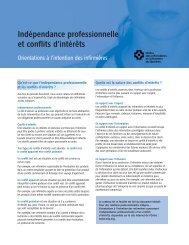 Indépendance professionnelle et conflits d'intérêts - Ordre des ...