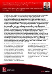 Lean management, the restructuring of work in the public sector and ...