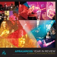 APRA AMCOS YEAR IN REVIEW