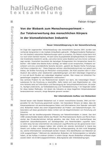 Von der Biobank zum Menschenexperiment - HalluziNoGene