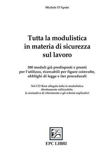 Tutta la modulistica in materia di sicurezza sul lavoro - Mega Italia ...