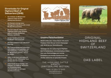 PDF mit Inhalt - Highland Cattle Society