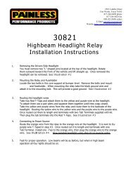 117-515 Relay & Wiring Kit, Headlights - Moss Motors