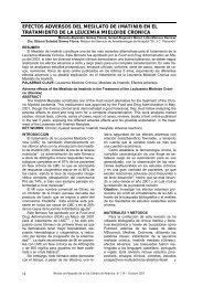 efectos adversos del mesilato de imatinib en el tratamiento