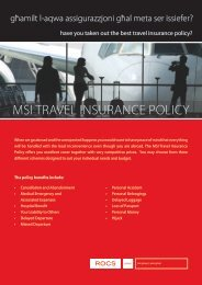 MSI TRAVEL INSURANCE POLICY - ROCS group