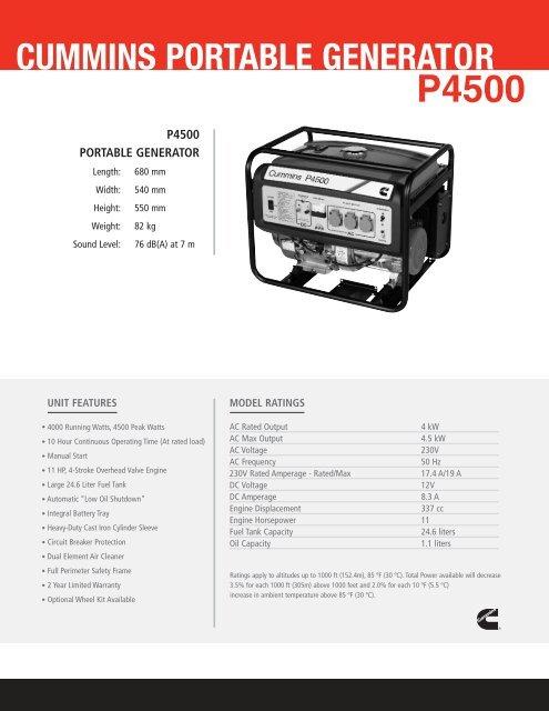 P4500 SS ME qxp - Cummins Onan