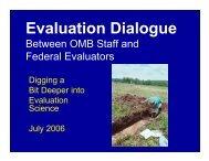 Federal Evaluators 2006 OMB Briefing Slides