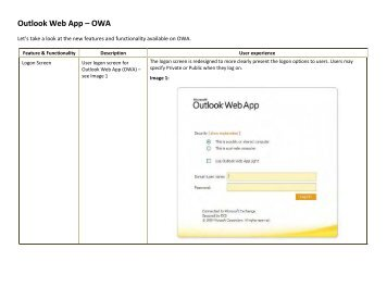 Outlook Web App – OWA