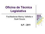 Curso de Técnica Legislativa - Assembleia Legislativa do Estado de ...