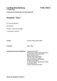 Landtag Brandenburg P-AIL 5/52-2 Protokoll - Teil 2 - Brandenburg.de