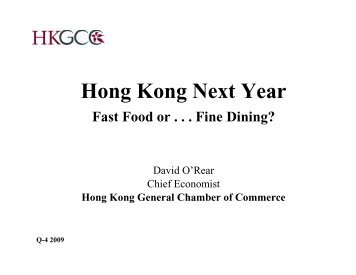 Presentation by Mr David O'Rear, HKGCC at FDGA Xmas Cocktail ...