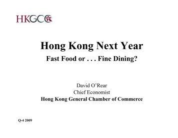 Presentation by Mr David O'Rear, HKGCC at FDGA Xmas Cocktail ...