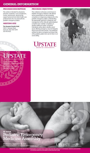 Pediatric Emergency Medicine Assembly - SUNY Upstate Medical ...