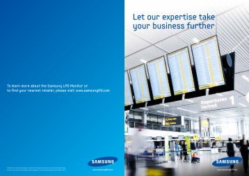 Let our expertise take your business further - Samsung