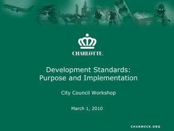 Development Standards - Charlotte Chamber of Commerce