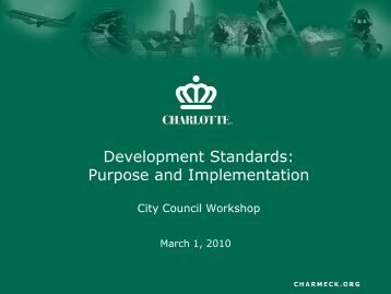 Development Standards - Charlotte Chamber of Commerce