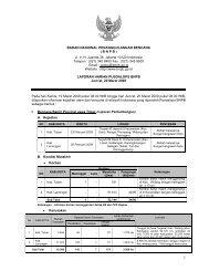 Laporan Harian 20 Maret 2009 - BNPB