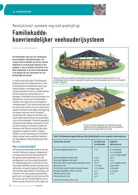 Familiekudde: koevriendelijker veehouderijsysteem - Melkveebedrijf