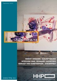 TaxARTIST 2/13 - HHP - Hammerschmied Hohenegger und Partner
