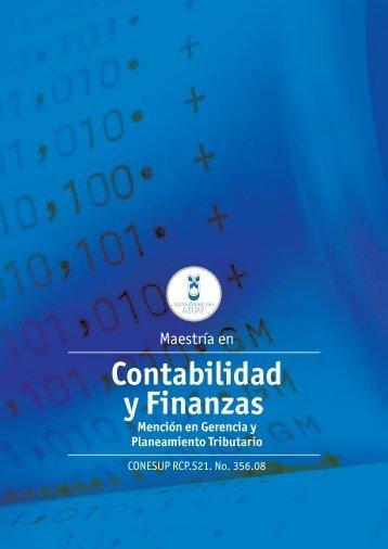 Maestría en Contabilidad y Finanzas - Universidad del Azuay