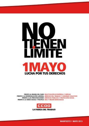 MANIFIESTO 1 MAYO 2013 - Federación de Servicios a la ...
