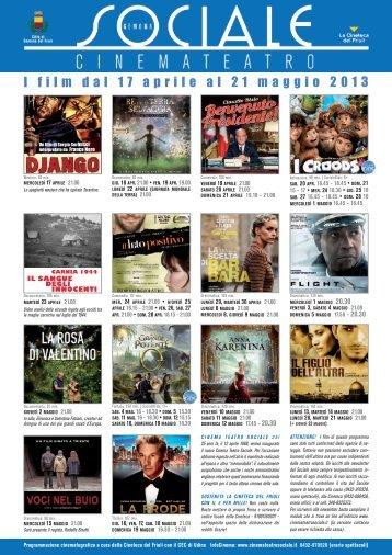 I film dal 17 aprile al 21 maggio 2013 - La Cineteca del Friuli