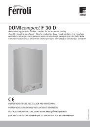 DOMIcompact F 30 D - Ferroli