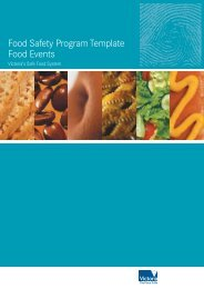 Food Safety Program Template Food Events - City of Port Phillip