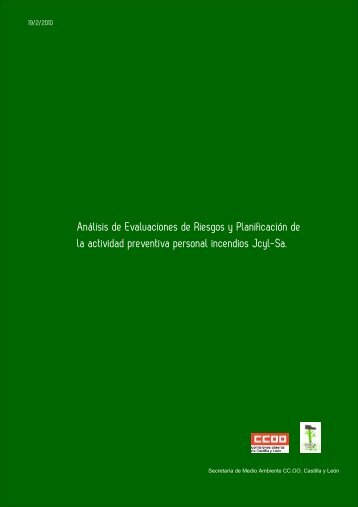 Informe de CCOO analizando la actividad preventiva de la Junta de ...