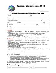 Domanda di ammissione 2012 - Associazione Italiana Radioascolto