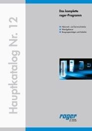 ROGER Hauptkatalog download (15,5 MB) - roger.at