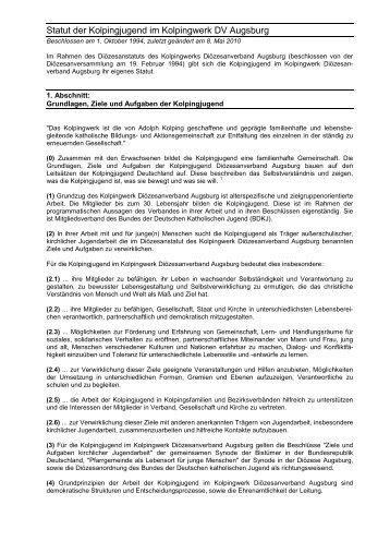 Diözesanstatut - Kolpingjugend Diözesanverband Augsburg