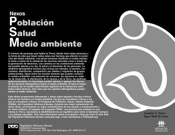 Población Salud Medio ambiente - Population Reference Bureau