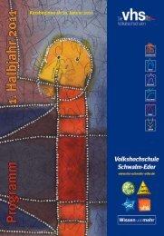 Programm Frühjahr 2011 - Volkshochschule des Schwalm-Eder ...