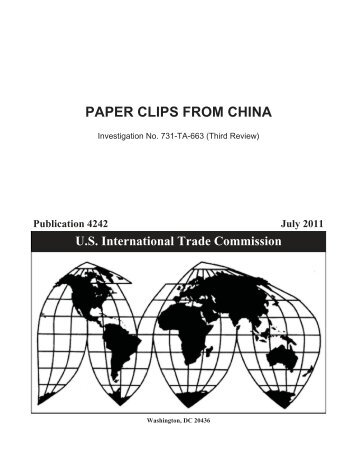 Paper Clips from China - USITC