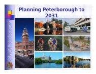 Planning Peterborough to 2031 - City of Peterborough