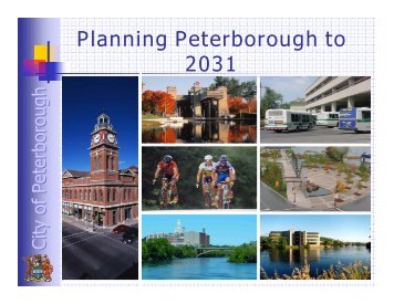 Planning Peterborough to 2031 - City of Peterborough