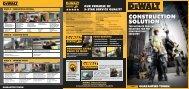 DeWalt Construction Solution Flyer - AEC Online