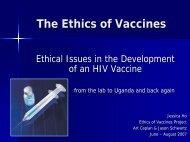 Ethics of Vaccines