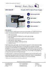 SFC C20-CP Portable DMFC Hybrid Power Supply - OkSolar.com