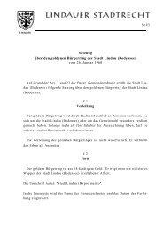Satzung über den goldenen Bürgerring der Stadt Lindau (Bodensee ...