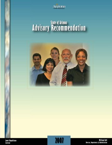 2007 Salary Recommendation - Arizona Human Resources