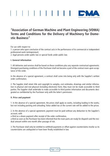 """Association of German Machine and Plant Engineering (VDMA ..."